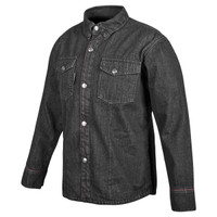 Speed And Strength Gridlock Denim Moto Shirt Black
