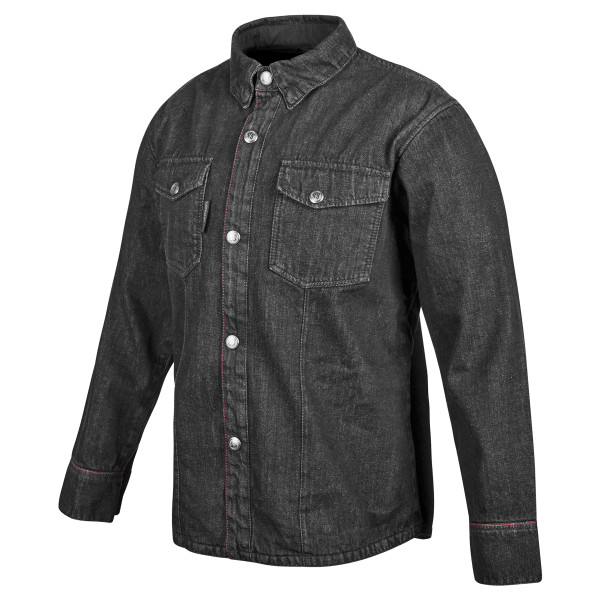Speed And Strength Gridlock Denim Moto Shirt Black