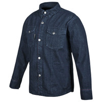 Speed And Strength Gridlock Denim Moto Shirt Blue