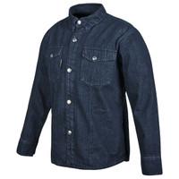 Speed And Strength Gridlock Denim Moto Shirt Blue