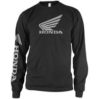 Honda Corporate Wing Logo Long Sleeve Tee Black