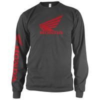 Honda Corporate Wing Logo Long Sleeve Tee Gray