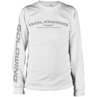 Honda Gold Wing Corporate Long Sleeve Tee White