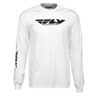 Fly Racing Corporate Long Sleeve Tee White