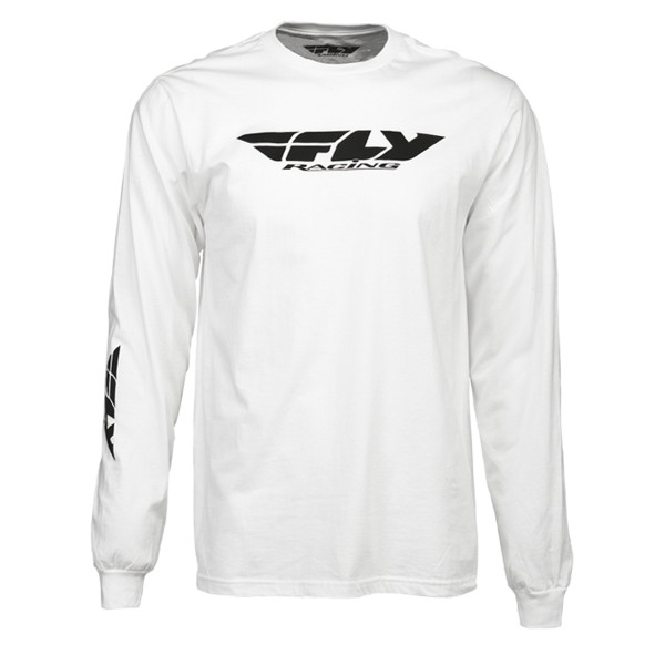 Fly Racing Corporate Long Sleeve Tee White