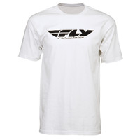 Fly Racing Corporate Tee White