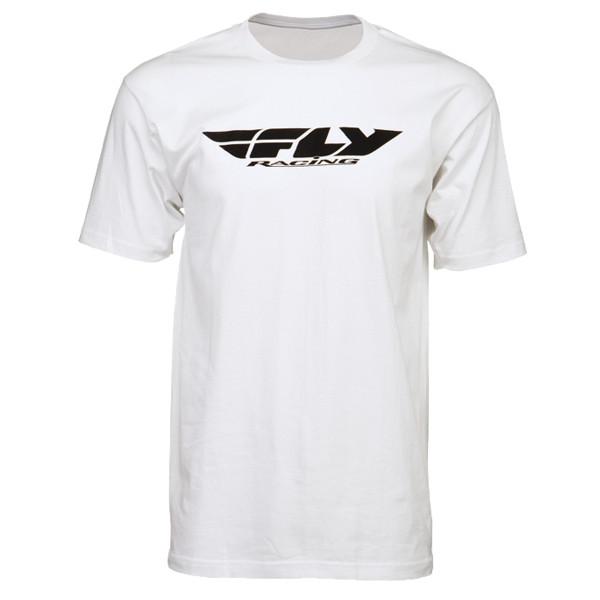 Fly Racing Corporate Tee White
