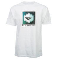 Fly Racing Spoke Tee White