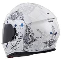 Scorpion EXO-T510 Azalea Helmet White Back View