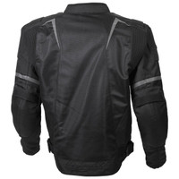 Scorpion Influx Jacket Black Back View
