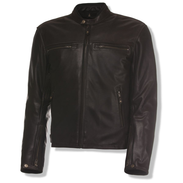 Olympia Bishop Brown Leather Jacket Main View