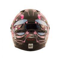 Zox Primo Junior Full Face Helmet Pink Back View