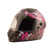 Zox Primo Junior Full Face Helmet Pink Front View