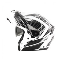 Zox Condor Svs Vision Full Face Helmet White Open View