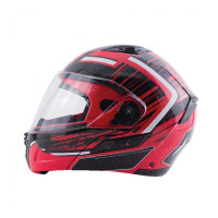 Zox Condor Svs Vision Full Face Helmet Red Side View
