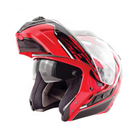 Zox Condor Svs Vision Full Face Helmet Red Open View