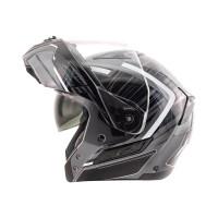 Zox Condor Svs Vision Full Face Helmet Helmet Dark Open View
