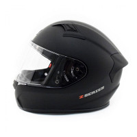 Zox Z-FF50 Solid Full Face Helmet Matte Black Side View