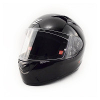 Zox Z-FF50 Solid Full Face Helmet Shine Black View Front View