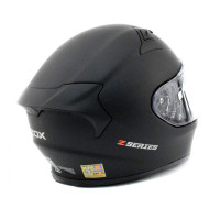 Zox Z-FF50 Solid Full Face Helmet Matte Black Back View