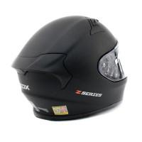 Zox Z-FF50 Solid Full Face Helmet Matte Black Back View