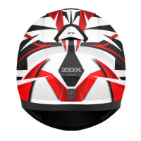 Zox Z-FF10 Svs Full Face Helmet Red Back View