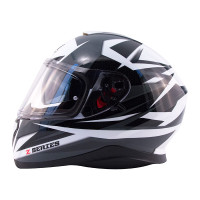 Zox Z-FF10 Svs Full Face Helmet Silver Side View