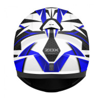 Zox Z-FF10 Svs Full Face Helmet Blue Back View