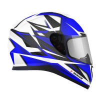 Zox Z-FF10 Svs Full Face Helmet Blue Cut View