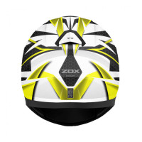 Zox Z-FF10 Svs Full Face Helmet Yellow Back View