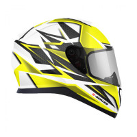 Zox Z-FF10 Svs Full Face Helmet Yellow Cut View