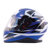 Zox Z-FF10 Svs Full Face Helmet Blue Side View