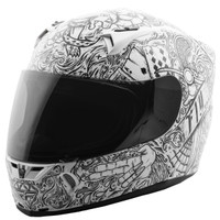 Fly Racing Revolt Ink 'N Needle Helmet Black/White