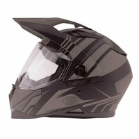 Zox Z-DS10 Stitch Full Faxe Helmet Matte Dark Silver View