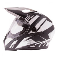 Zox Z-DS10 Stitch Full Faxe Helmet Matte White View