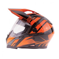 Zox Z-DS10 Stitch Full Faxe Helmet Glossy Orange