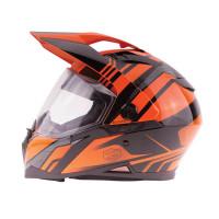 Zox Z-DS10 Stitch Full Faxe Helmet Glossy Orange