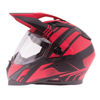 Zox Z-DS10 Stitch Full Faxe Helmet Matte Red