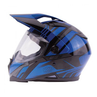 Zox Z-DS10 Stitch Full Faxe Helmet Glossy Blue