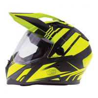 Zox Z-DS10 Stitch Full Faxe Helmet Matte Hi-Viz/Yellow