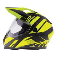 Zox Z-DS10 Stitch Full Faxe Helmet Matte Hi-Viz/Yellow