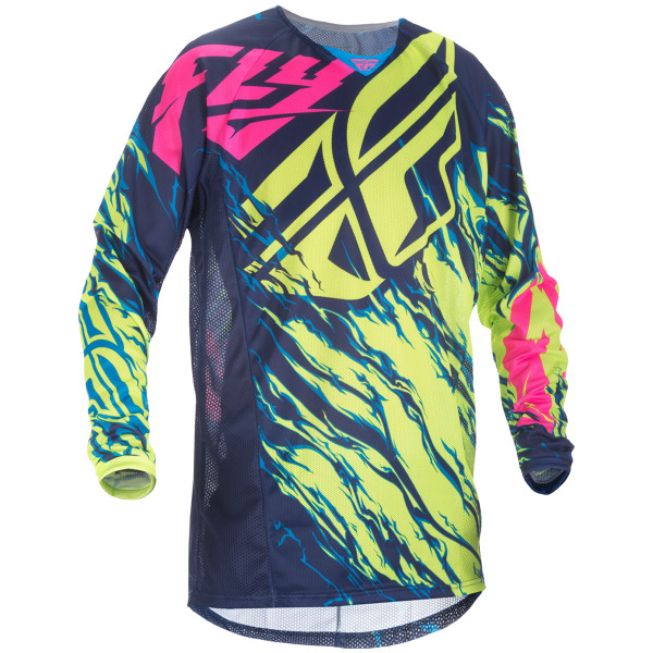 Fly Racing Youth Kinetic Relapse Mesh Jersey Yellow