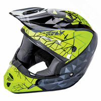 Fly Racing Youth Kinetic Crux High Visibility Yellow Helmet 1