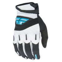 Fly Racing Youth F-16 Gloves Black/White