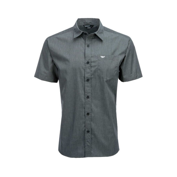 Fly Racing Button Up Shirt Gray