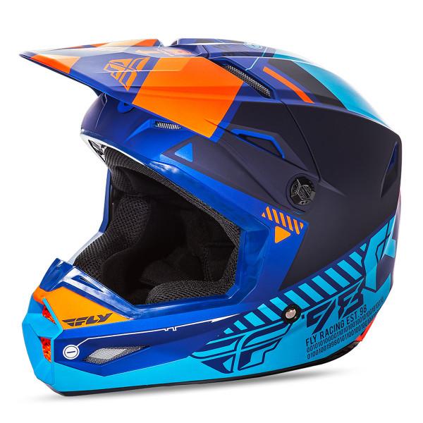 Fly Racing Youth Kinetic Elite Onset Helmet Blue