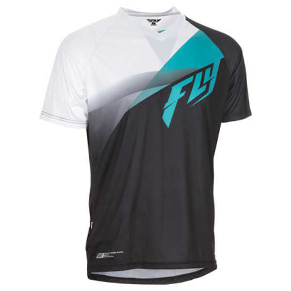 Fly Racing Super D Jersey Black/White