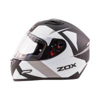 Zox Galaxy Ray Full Face Helmet Matte Dark Silver View
