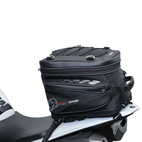 Oxford T40R Tail Pack On Bike View