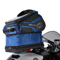 Oxford Q30R QR Tank Bag Blue On Bike View